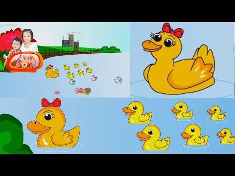 เพลงเป็ดอาบน้ำ เพลงเด็ก ฉบับการ์ตูน น่ารักๆ - Duck song thai