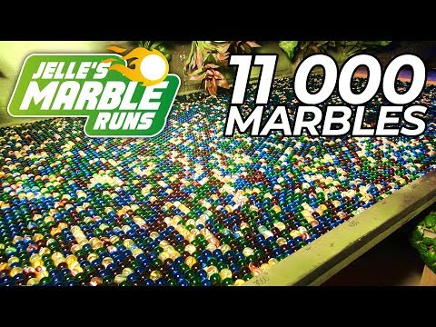 Marble Run Machine with 11,000 Marbles!