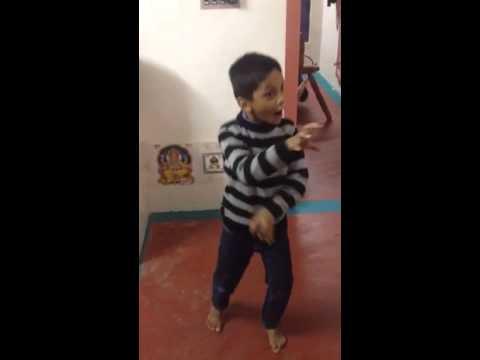 Nephew dancing on singham return song