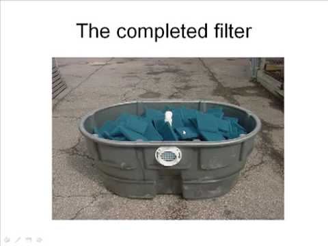 Diy pond filter youtube for Pond water filter
