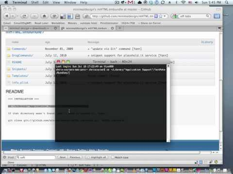 Screencast #90: Simple TextMate Tips