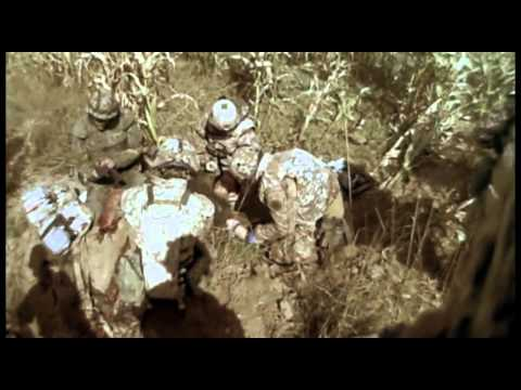 Danish soldier steps on mine - English subtitles