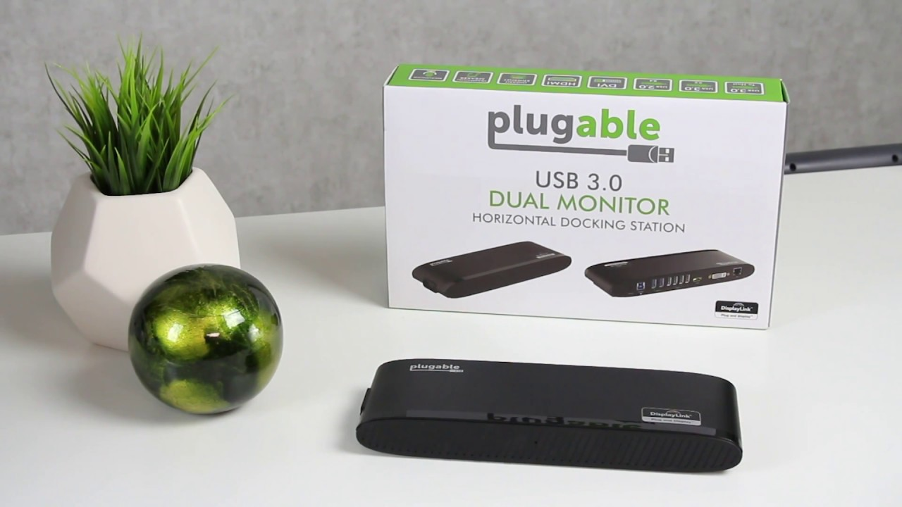 Plugable's USB 3 0 Horizontal Dual Monitor Docking Station
