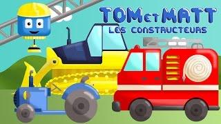 Compilation: tracteur, camions benne, grue, train, moto | Tom & Matt les véhicules constructeurs