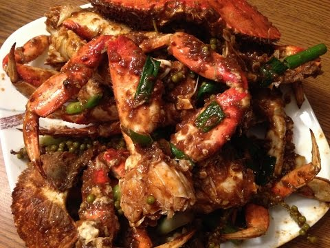 AWESOME STIR FRIED DUNGENESS CRABS & YOUNG PEPPERCORN-CAMBODIAN/ASIAN/FOOD/