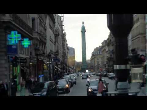 Paris October 21, 2012 Rue du Faubourg-St. Honore, La Madeleine, Opera Garnier and Place Vendome.MP4