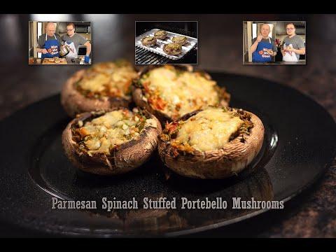 Parmesan Spinach Stuffed Portobello Mushrooms