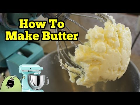How To Make REAL BUTTER in a KitchenAid Mixer
