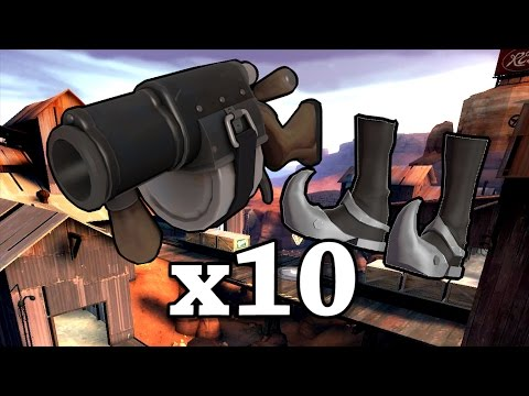 TF2 x10: Slingshot Quickiebomb Demo [Live Commentary]