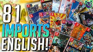 81 Switch Imports With English!   The Ultimate Collector's Guide!