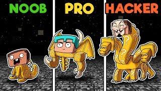 Minecraft - LUCKY BOSSES CHALLENGE! (NOOB vs PRO vs HACKER)