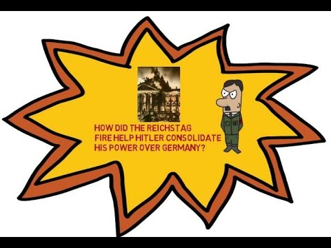 How did the Reichstag fire help Hitler consolidate power?