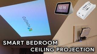 smart bedroom ceiling projector setup