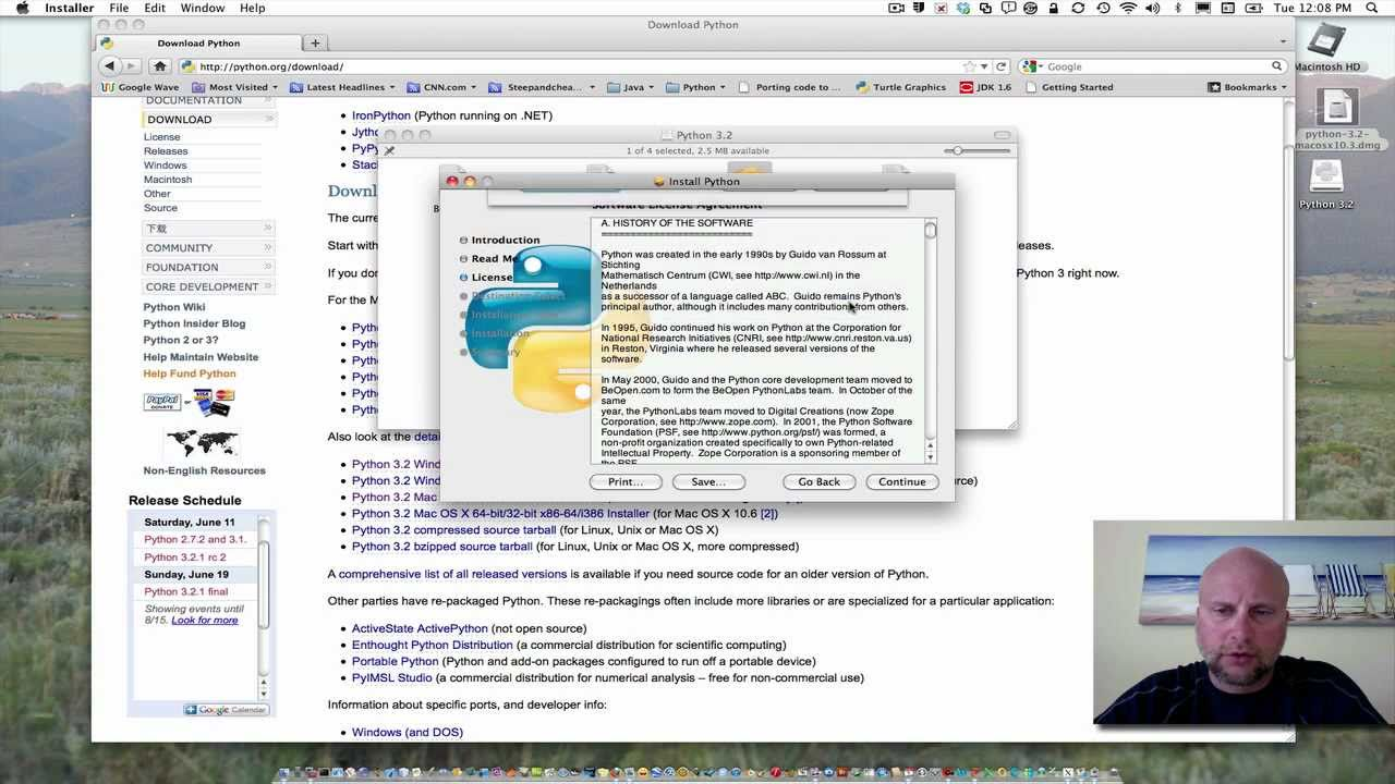 Installing Python and Wing IDE 101 on Mac OS X