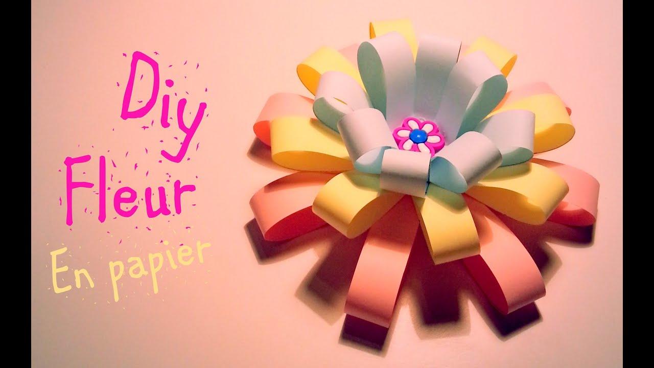 Tuto Fleur En Papier pour d.i.y comment faire une fleur en papier - youtube