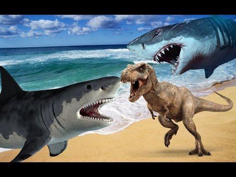 Мультфильм про динозавров и акул