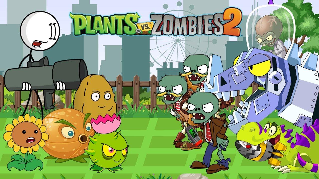 PLANTS VS HENRY STICKMIN VS DR. ZOMBOSS (PvZ 2) - Episode 4 - Plants Vs Zombies: Garden Warfare 2