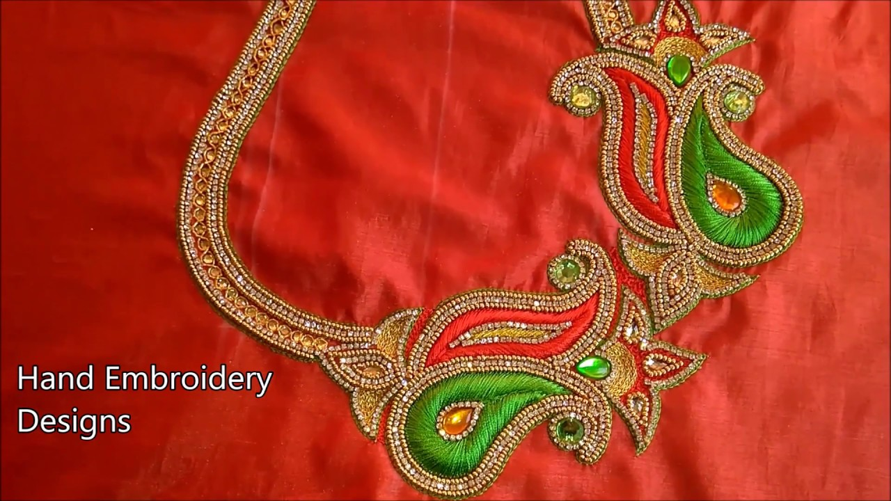 Simple Maggam Work Blouse Designs Hand Embroidery Designs