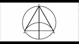 Construir un triangulo equilatero inscrito en una circunferencia