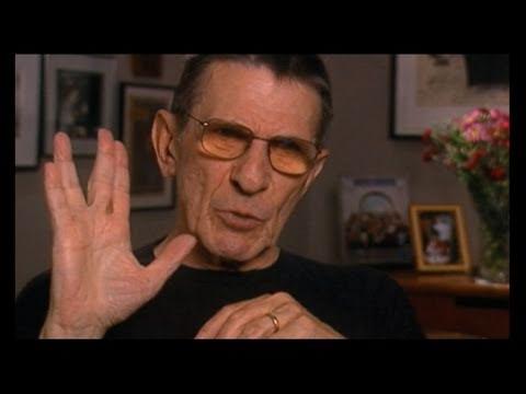 """Leonard Nimoy on the Spock """"Star Trek"""" Vulcan Salute - EMMYTVLEGENDS.ORG"""