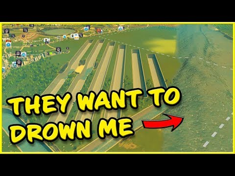 THEY DROWNED MY CITY! - YouTube Plays Cities Skylines  