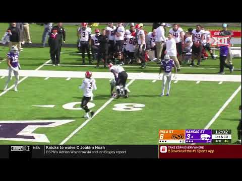 Oklahoma State vs Kansas State Football Highlights