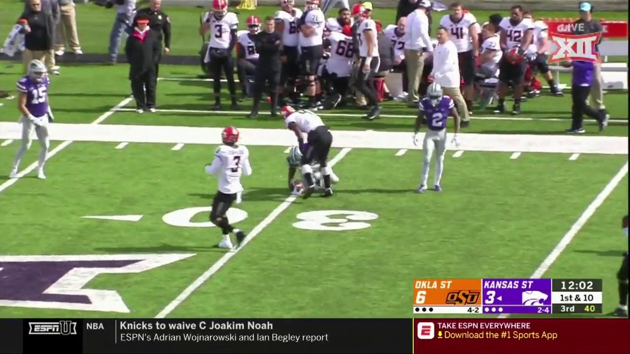 Oklahoma State vs Kansas State Football Highlights - YouTube