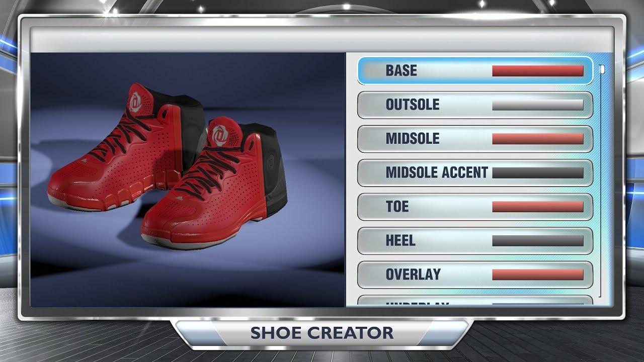 online store 4b00f 4d4bd NBA 2K14 Next Gen Shoes - Adidas D Rose 4 Red Black
