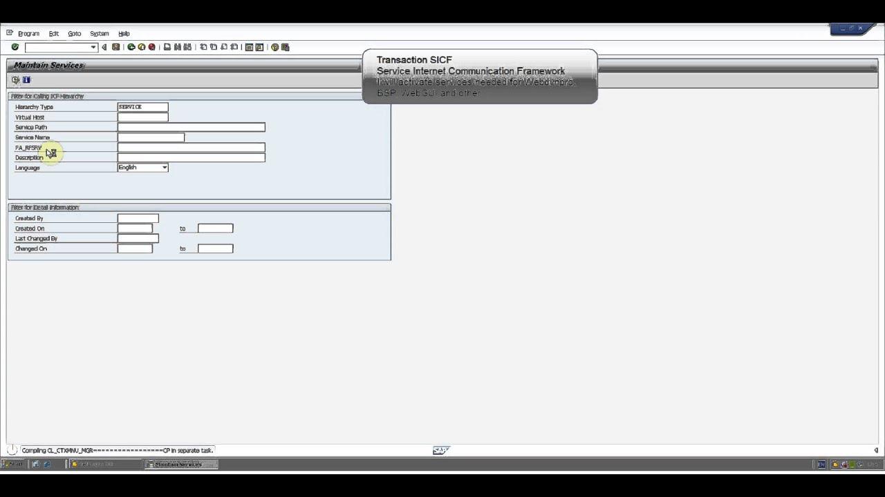 SAP ERP Activate SICF services