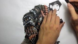 Batman Arkham Knight:  Scarecrow drawing