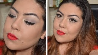 Eyeliner Classico con Labbra Rosso Fuoco - LaTaly Thumbnail