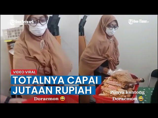 Video Viral Wanita Curi Makanan di Supermarket, Karyawan Sebut Totalnya Capai Jutaan Rupiah