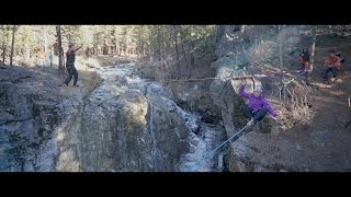 Ragtime Highlining feat. YogaSlackers at Icy McKay Falls - Extreme Slacklining