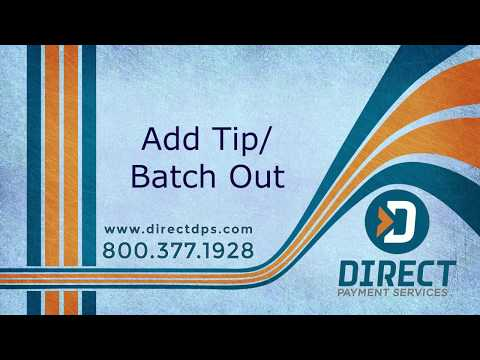 How to Add Tips & Batch Out (DPS Salon POS Sytem) - Tieng Viet