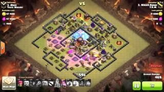 Clash of clans TH10 WAR ATTACK 3 STAR GOWIGI, SQUARE BASE, ULTIMATE ATTACK..!!!!
