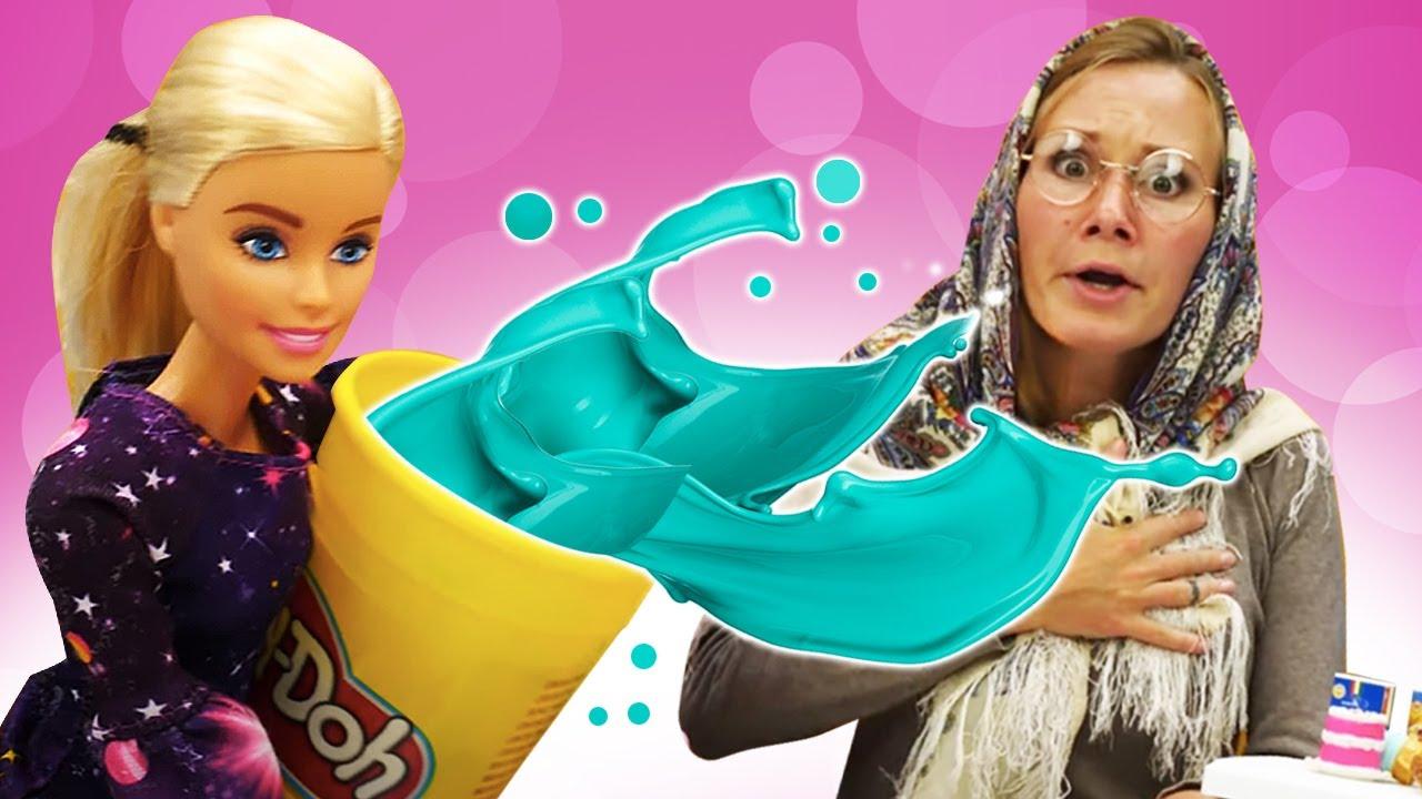 Кукла Барби и Баба Маня. Игры в куклы для девочек. Как пережить ремонт в доме Барби? Игры с Плей До