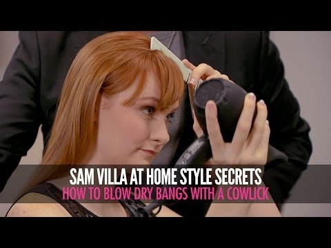 How To Blow Dry Bangs With a Cowlick