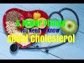 5 Major Things You Need To Know About Cholesterol