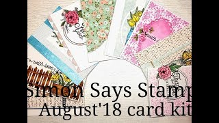 10 Cards 1 kit Simon Says St August 39 18 Card Kit 39 39 Mandy 39 s Flowers 39 39