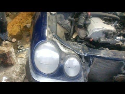 Mercedes  W210 ремонт чашки передней пружины