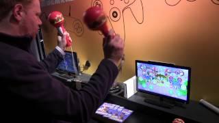 EGX Rezzed 2014 Samba De Amigo Wii Gameplay