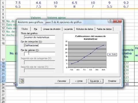 Super Matematicos Cómo Crear Una Ojiva Con Excel