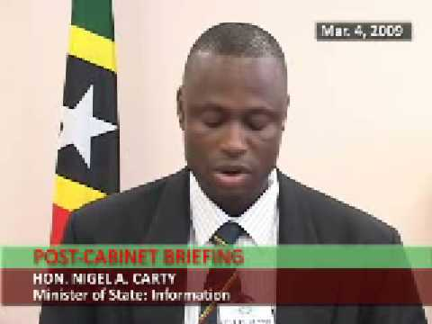 St. Kitts & Nevis Post-Cabinet Statement by Nigel Carty (March 4, 2009)