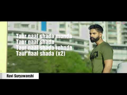 Taur Nal Shada Rhenda Munda Toor Nal | Lyrics Video | Shada Parmish Verma |