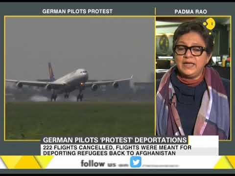 German pilots 'protest' deportation