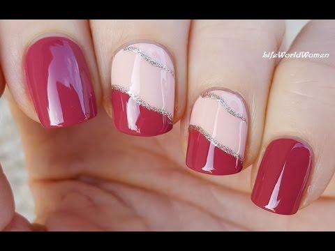 DIY EASY NAILS: Pale Pink & Peach NAIL ART TUTORIAL - DIY EASY NAILS: Pale Pink & Peach NAIL ART TUTORIAL - YouTube