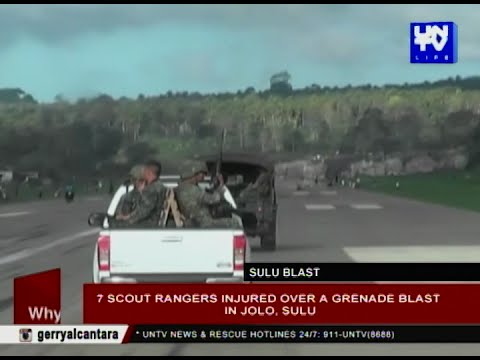 7 scout rangers injured over a grenade blast in Jolo, Sulu