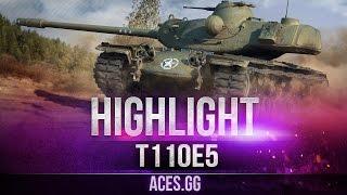 Классический ТТ на карте Фьорды! Т110Е5 в World of Tanks!