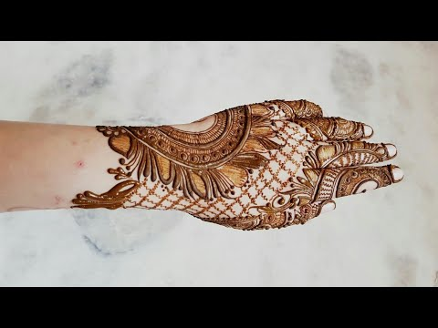 New Creation Simple And Stylish Bridal Henna Design For Back 2017