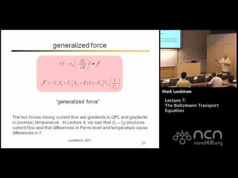 Near-equilibrium Transport Lecture 7: Boltzmann Transport Equation